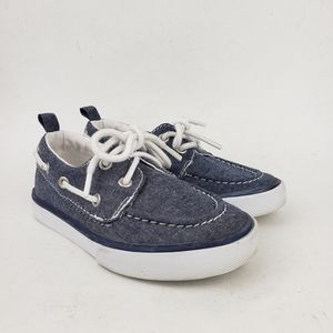 Gymboree Denim Blue Lace Up Loafers Deck Shoes 9